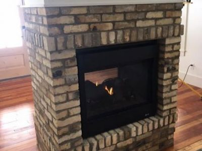 Center Room Fireplace